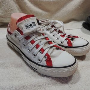 Converse Red White double colored  womens …